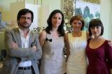 Lo staff Antonio Maria Arbues e l'inviata di Si Sposa