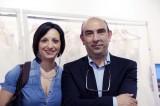 Domenico Tria, titolare della Pat Maseda, con l'inviata Lucia