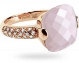 Anello con Opale rosa