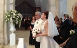 Michele Placido e Federica Vincenti davanti all'altare