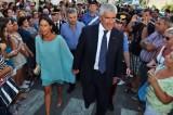 Pier Ferdinando Casini e la moglie Azzurra Caltagirone, invitati alle nozze