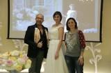 L'inviata di Si Sposa con lo stilista Mauro Adami e la sua modella