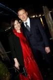 La designer Alessandra Rinaudo con il marito e Presidente della Nicole F. G., Carlo Cavallo